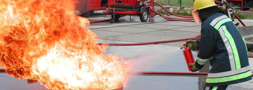 Oefenen samen met de Brandweer
