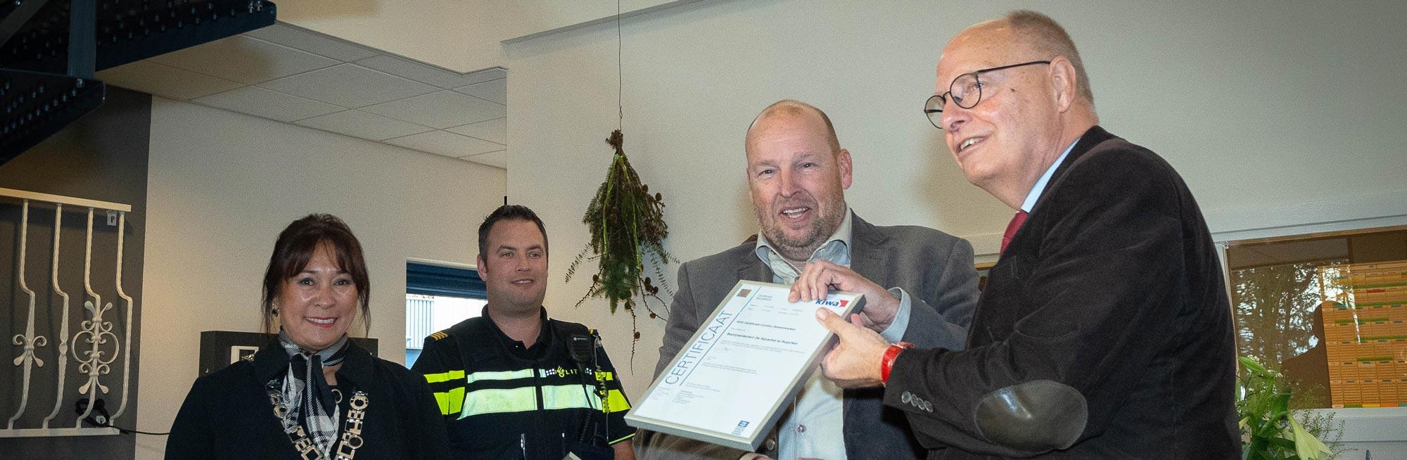 Bedrijventerrein 'De Nijverhei' beloond met Keurmerk Veilig Ondernemen (KVO) continu samenwerken